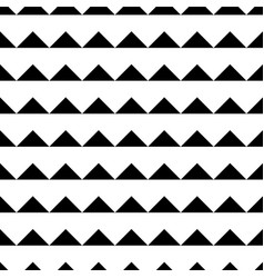 Tile black and white triangle pattern background vector