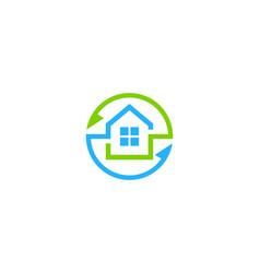 transfer house logo icon design vector image