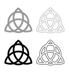 Trikvetr knot with circle power three viking vector