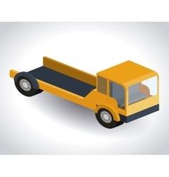 Truck isometric design vector