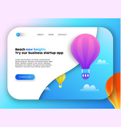 Web business landing page template for app idea vector
