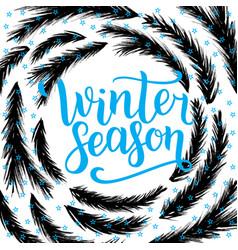 Winter season lettering design vector