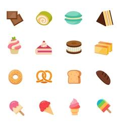 Dessert icon full color flat icon design vector image vector image