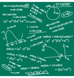 formula doodle vector image