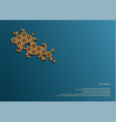 hexagonal decoration vector image vector image