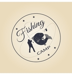logo fishing camp vector image