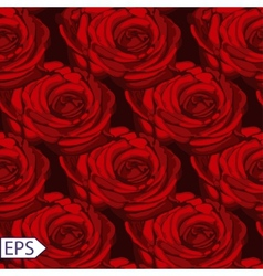seamless vintage rose flower pattern vector image