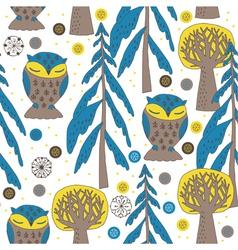 sleeping owl art vector image