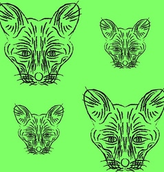 Contour foxes and foxes vector image