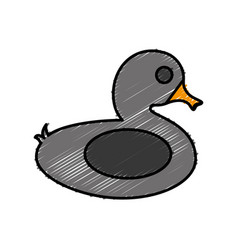 float in duck shape icon vector image vector image