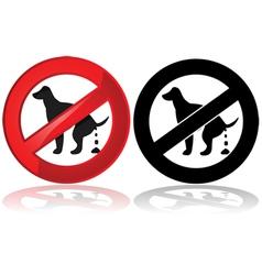 No dog poop vector image vector image