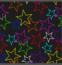 seamless texture of colored stars vector image