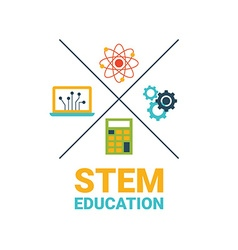STEM education concept vector image vector image