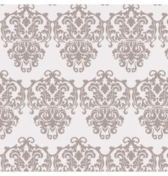 Vintage damask floral ornament pattern vector image vector image