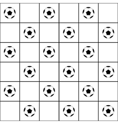 Football Ball Black Grid White Background vector image vector image