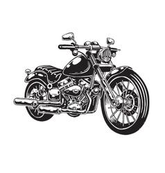 hand drawn motorcycle vector image