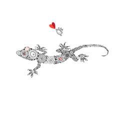 ornamental beautiful gecko vector image vector image