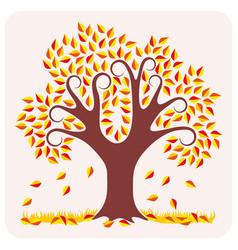 tree in autumn vector image