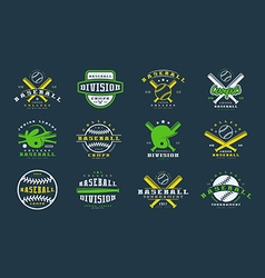 Badges set of baseball team vector image vector image