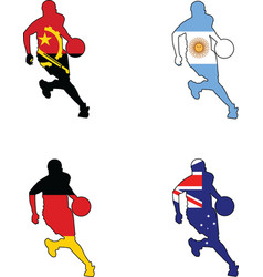 basketball colors of Angola Argentina Australia Ge vector image vector image