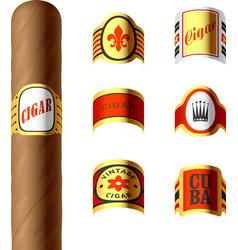 Cigar labels vector image