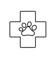 dog paw print icon vector image vector image