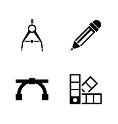 engineering tools simple related icons vector image vector image