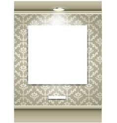 Gallery Interior with empty space vector image