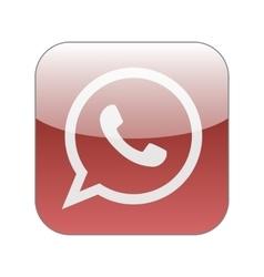 Green phone in speech bubble icon vector image vector image