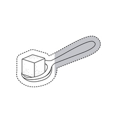 Isolated sugar and spoon design vector image vector image