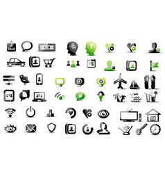 mega collection of pictograms vector image vector image