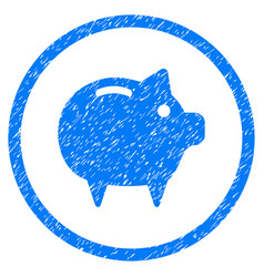 piggy bank rounded grainy icon vector image vector image