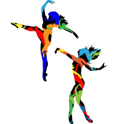 Silhouette of the dancer vector image vector image
