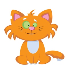 smile comic cat vector image vector image