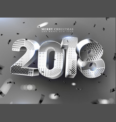 2018 merry christmas and happy new year vector