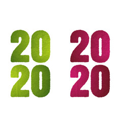 2020 green grass vector image