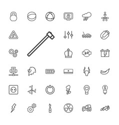 33 power icons vector