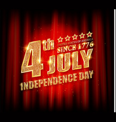 4th july american independence day badge vector image