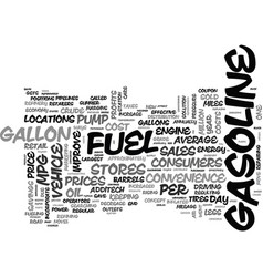 A coupon at the pump text word cloud concept vector