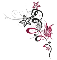 Abstract floral elements vector