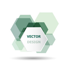 Abstract green hexagon banner background template vector