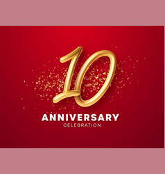 anniversary celebration design with golden numbers vector image