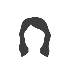 Anonymous woman with empty face icon vector