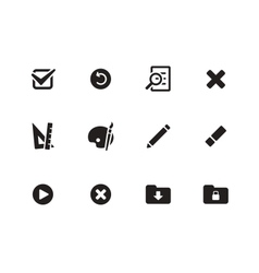 Application interface icons vector image