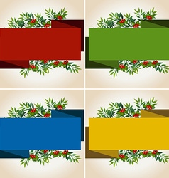 Banner template with mistletoes vector image