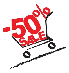 Big sale 50 percentage discount 2 vector image