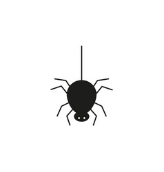 black spider bug of icon for the helloween vector image