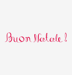 Buon natale merry christmas calligraphy italian vector