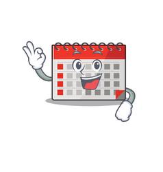 Character calendar isolated with in cartoon okay vector