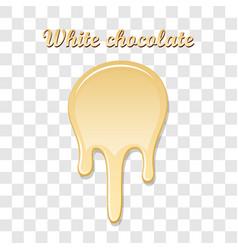 Chocolate drip splash white chocolate liquid blot vector